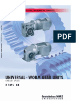 NORD Universal Worm Gear Units Catalogue
