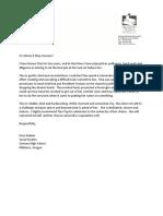 letter of recs