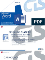 Sesion Microsoft Word