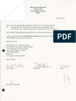 Proof of Service and Receipt of Discovery in EEOC Case No. 480-2010-00106X