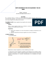 Medición Del Campo Magnético de Un Solenoide y de Un Imán