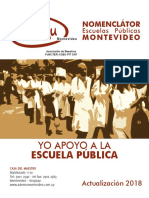 Nomenclator Escuelas Montevideo 2018