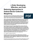 Executive Order - Reducing Cost of Federal Sector Labor Negotiations