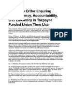"Executive Order - Ensuring Accountability and Efficiency for Union ""Official Time"""