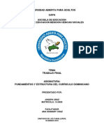 Trabajo Final Fundamento Del Curriculo Dominicano