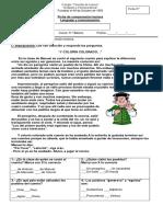 Fichas de Comprension Lectora.
