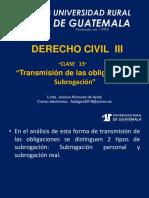 Derecho Civil III Clase 13