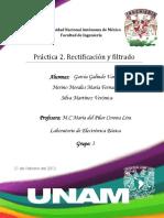 Reporte Práctica 2_Rectificación y Filtrado