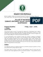 Maywood Summary Abatement RFP_2018