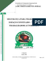 Espaço Confinado - 1a Edição - Vigia e Trabalhador Autorizado