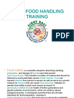 Basic Food Handling Training