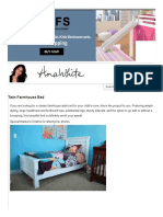 Ana White _ Twin Farmhouse Bed - DIY Projects