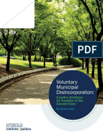 Voluntary Municipal Disincorporation - Creative Solutions for Counties of the Second Class