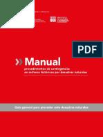 Manual de Procedimientos de Contingencias en Archivos Históricos Por Desastres Naturales