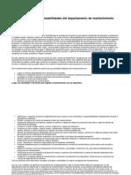 1.3. Funciones y responsabilidades del departamento de mantenimiento