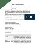 Consultas Criterios Ejemplos