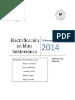 Informe Electrificacion Mineria Subterranea