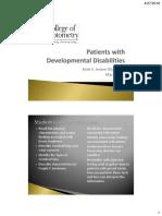 pediatrics patients with devtl disabilities2018