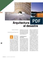 Arquitectura Desde El Desastre