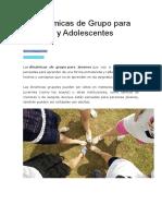 27 Dinámicas de Grupo Para Jóvenes y Adolescentes