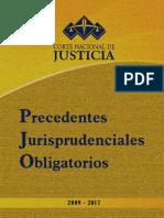 Precedentes Jurisprudenciales Obligatorios 2009-2017