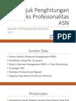 Petunjuk Penghitungan Indeks Profesionalitas ASN