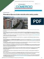 Plusvalía Se Fija Con El Valor Más Alto Entre Venta y Avalúo _ El Comercio