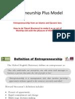 Entrepreneurship Plus Model March 2018 Asad Zaman.pptx