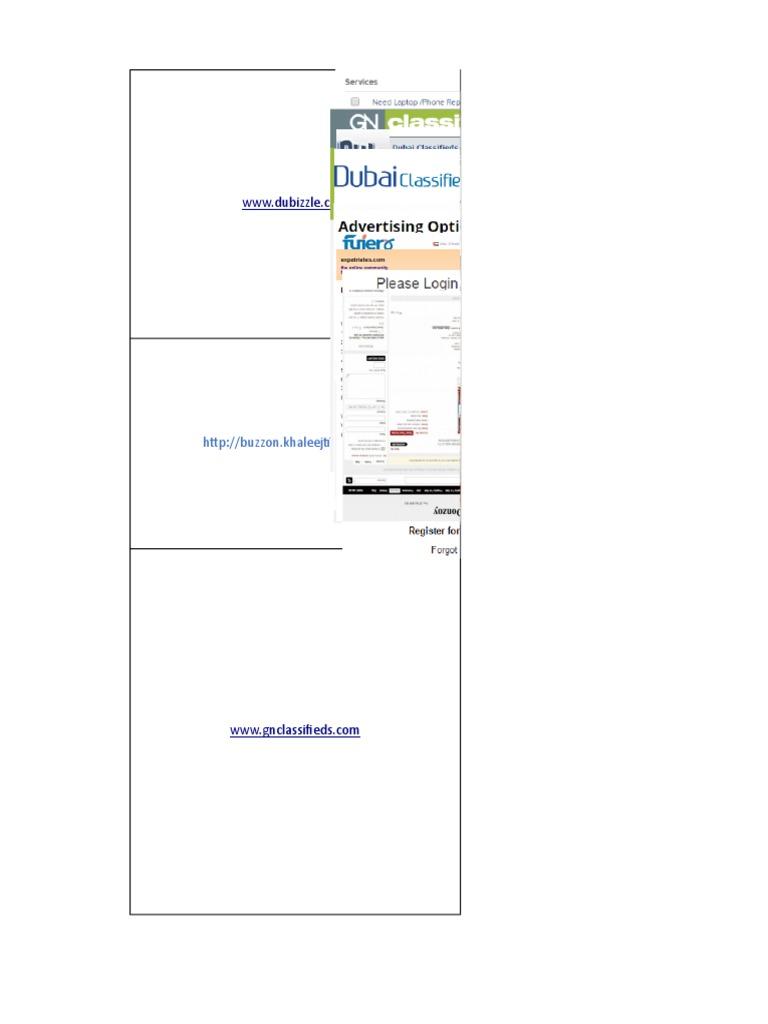 CLASSIFIED ADS LIST xlsx | Hypertext | World Wide Web