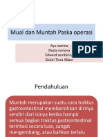 Mual Dan Muntah Paska Operasi