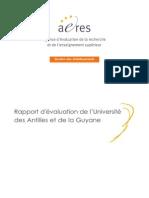 Rapport d'évaluation de l'Université des Antilles et de la Guyane