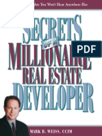Secrets of a Millionaire Real Estate Developer Secrets of a Millionaire