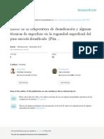Traducción de Effect of Densification Temperature and Some Surfacing Techniques ... Bustamante y Baro