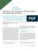 España y El Sistema Monetario de Bretton Woods