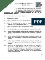 Orden del día de la SPO del 23-SEP-2010