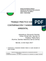 Contaminación y Saneamiento Ambiental