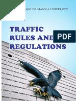 ADMU Traffic Rules & Regulations 2014 Primer