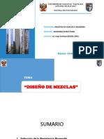 Diseño de Mezcla Clases