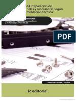 Preparacion de Materiales y Maquinaria Segun Documentacion Tecnica & Norma UNE-EN ISO 5457-2000