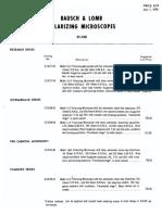 BandL Polscope Pricelist