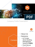Tanand Technology - Company Profile 2018