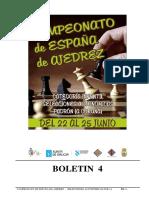CAMPEONATO DE ESPAÑA DE AJEDREZ -   SELECCIONES AUTONÓMICAS SUB - 14. BOLETIN_04_2017