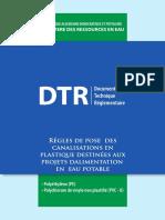 DTR_Régles de Pose Des Canalisations en Plastique Destinées