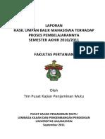 Laporan hasil umpan balik mahasiswa Pertanian.docx