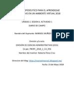 U2S6A1 Diario de Campo