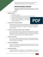 ESPECIFICACIONES TECNICAS Polideportivo La Beneficiencia