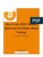How to Get Free BitCoins Quick and Fast!