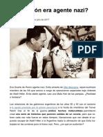 Eva Perón ¿era agente nazi?