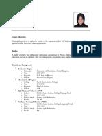 My Curriculum Vitae (CV)