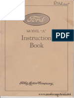 Ford Model a Instruction Book by Ford Motor Company